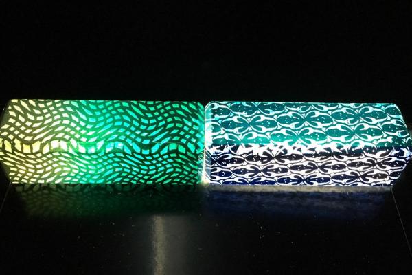 Peinture colorée lasérisable effet lumineux